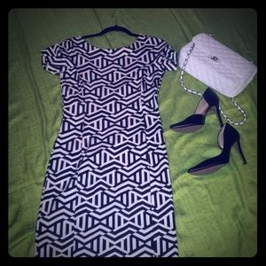 Zara's fitted, midi dress